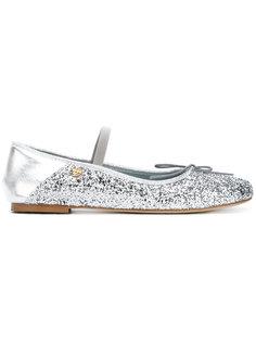 glitter strap ballerina shoes  Chiara Ferragni