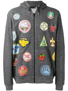 multi patch hoodie  Love Moschino