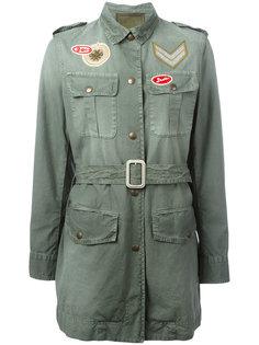 куртка с поясом и заплатками Mr & Mrs Italy
