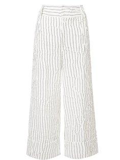полосатые укороченные брюки Derek Lam 10 Crosby