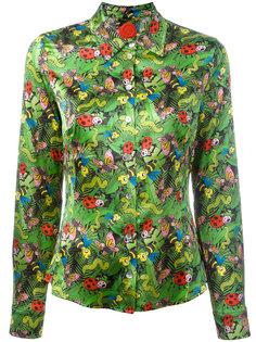 блузка на пуговицах с принтом насекомых Ultràchic