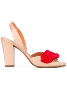red ruffle sandals Chie Mihara