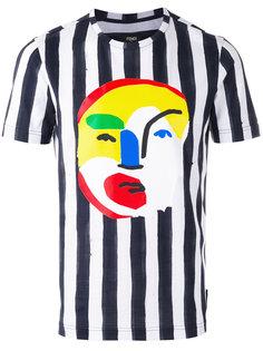 полосатая футболка с абстрактным принтом Fendi