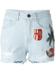 джинсовые шорты с заплатками Mr & Mrs Italy
