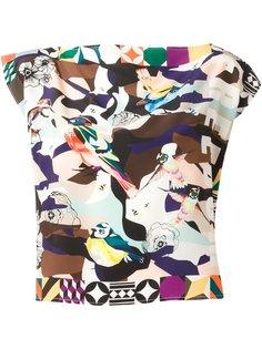 блузка с графическим принтом MSGM