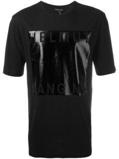 футболка с принтом металлик Helmut Lang