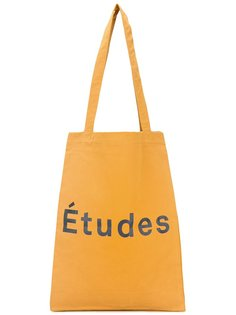 сумка-тоут с принтом-логотипом Études
