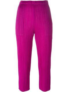 укороченные брюки с гофрированным дизайном  Pleats Please By Issey Miyake