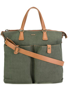 сумка-тоут с карманами карго Zanellato