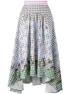 diamond print gingham skirt  Peter Pilotto