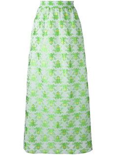 длинная юбка с принтом лягушек Ultràchic