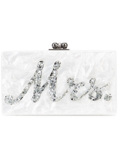 marble effect boxy clutch Edie Parker