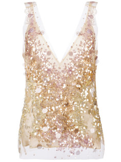 sequined V-neck top Amen Amen.