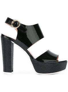 platform sling-back sandals Pollini