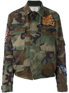 куртка-бомбер  с вышивкой As65