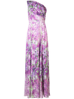 orchid single shoulder gown Badgley Mischka
