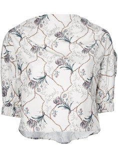 cropped floral print blouse 08Sircus