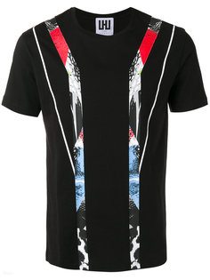 printed stripe T-shirt  Les Hommes Urban