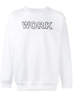 work print sweatshirt Andrea Crews
