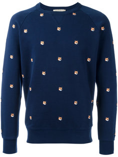 All Over Fox Head sweatshirt Maison Kitsuné