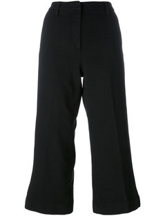 flared cropped trousers Barba