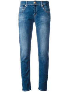 light-wash slim-fit jeans 7 For All Mankind