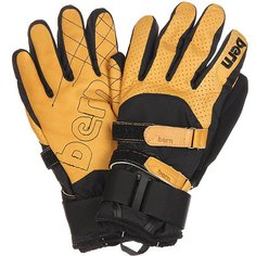Перчатки сноубордические Bern Rawhide Leather Gloves W/ Removeable Wrist Guard Yellow-Tan