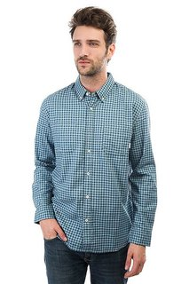 Рубашка в клетку Quiksilver Fortenightsls Indian Teal Gingham