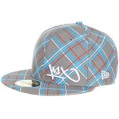 Бейсболка с прямым козырьком K1X Check It Out Grey/Beig