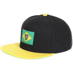 Бейсболка с прямым козырьком K1X Noh Brazil Snapback Cap Black/Yellow