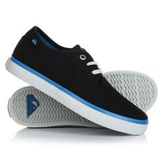 Кеды кроссовки низкие детские Quiksilver Shorebreak Black Blue Grey