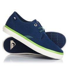 Кеды кроссовки низкие детские Quiksilver Shorebreak Blue White Green