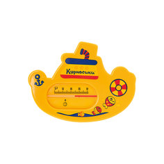 """Термометр для ванны """"Пароходик"""", Kurnosiki, желтый Курносики"""