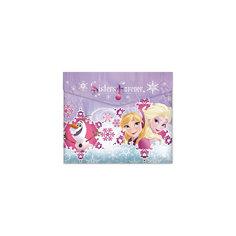 """Пластиковая папка-конверт на кнопке для тетрадей """"Frozen"""", Disney Limpopo"""