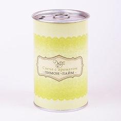 Свеча декоративная ароматизированная парафиновая с ароматом лимон-лайм, Феникс-Презент