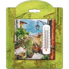 Термометр декоративный, жидкостный, бытовой в корпусе из доломитовой керамики, Феникс-Презент