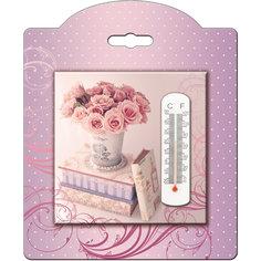 Термометр декоративный  жидкостный, бытовой в корпусе из доломитовой керамики, Феникс-Презент