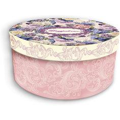 """Коробка подарочная """"Лиловые букеты"""", 14х14х7см., Феникс-Презент"""