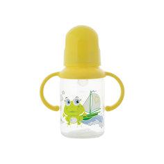 Бутылочка с ручками и силиконовой соской,125 мл, Kurnosiki, зеленый Курносики