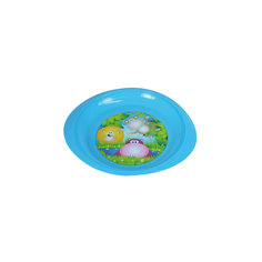 Тарелочка детская для вторых блюд, Курносики, голубой