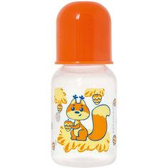 """Бутылочка с латексной соской """"Мои любимые животные"""", 125 мл, Kurnosiki, оранжевый Курносики"""