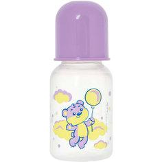 """Бутылочка с латексной соской """"Мои любимые животные"""", 125 мл, Kurnosiki, фиолетовый Курносики"""