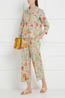 Хлопковая блузка Boutique Moschino
