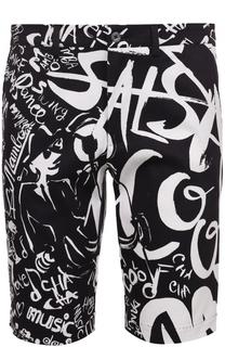 Хлопковые шорты с контрастным принтом Dolce & Gabbana