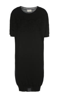 Платье свободного кроя с кружевной отделкой Lanvin