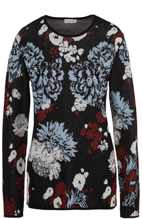 Хлопковый пуловер с контрастным принтом Dries Van Noten