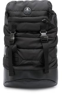 Текстильный стеганый рюкзак с отделкой из натуральной кожи Polo Ralph Lauren