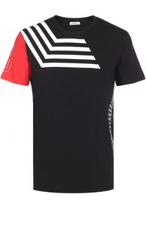 Хлопковая футболка с принтом Dirk Bikkembergs