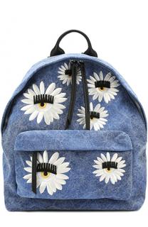 Текстильный рюкзак Flirting с вышивкой в виде цветов Chiara Ferragni