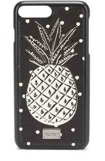 Кожный чехол для iPhone 7 Plus с принтом Dolce & Gabbana